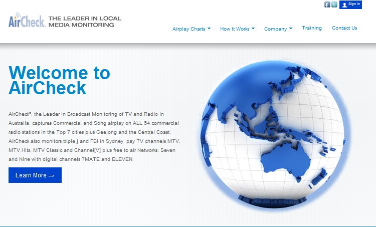 New AirCheck Homepage